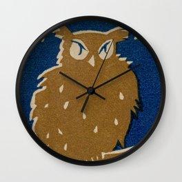 Vintage Japanese Owl Wall Clock
