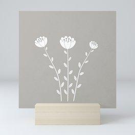 Simply Folk - White Poppies Mini Art Print