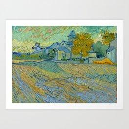 """Vincent van Gogh """"Vue de l'asile et de la Chapelle de Saint-Rémy"""" Art Print"""