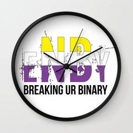ENBY breaking ur binary Wall Clock