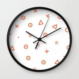Happy Particles Wall Clock