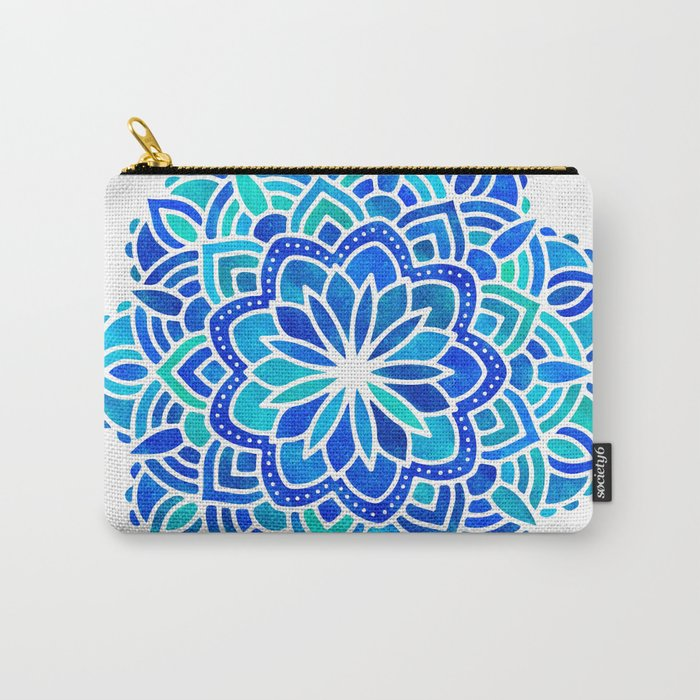 Mandala Iridescent Blue Green Carry-All Pouch
