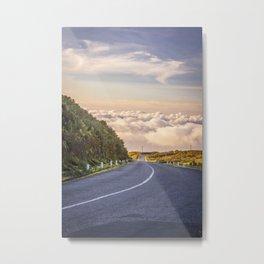 Empty road on Madeira island, Portugal Metal Print