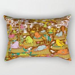 monks into the wood Rectangular Pillow