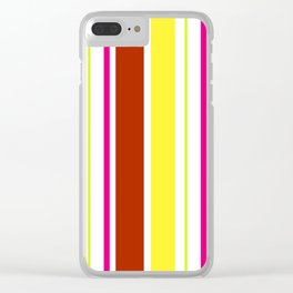 Stripes in colour 4 Clear iPhone Case