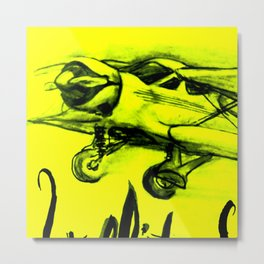 Beechcraft Staggerwing / Yellow Metal Print