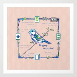 Lovely Sparrow - Mahjong Art Print