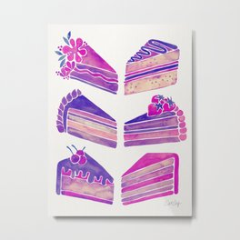 Cake Slices – Unicorn Palette Metal Print