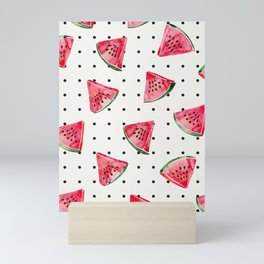 Watermelon Polka Dots Mini Art Print
