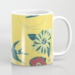 swallows and flowers Coffee Mug