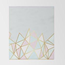 Gold & Pastel Geometric Pattern Throw Blanket