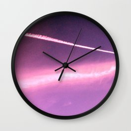 Blotchiness in sky Wall Clock