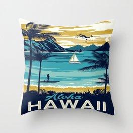 Vintage poster - Hawaii Throw Pillow