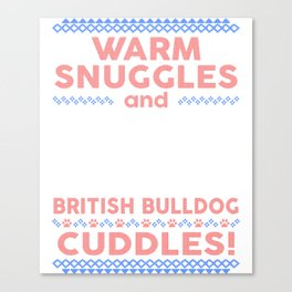British Bulldog Ugly Christmas Sweaters Canvas Print