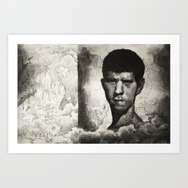 John and the Rock Art Print
