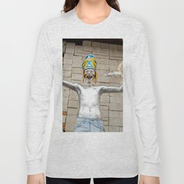 The silver aztec Long Sleeve T-shirt
