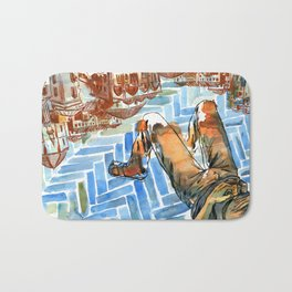 Asleep in Foreign Cities Bath Mat