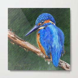 The Kingfisher by Teresa Thompson Metal Print