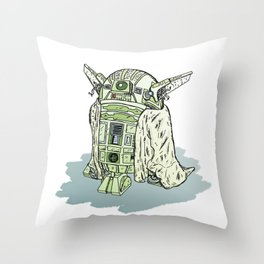 Y0-D4 Droid Throw Pillow