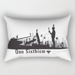 One Sixth Ism (Black World) Rectangular Pillow