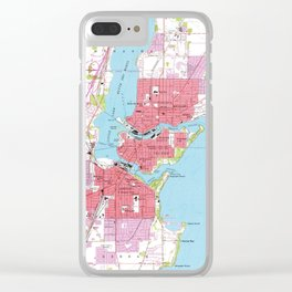 Vintage Map of Neenah Wisconsin (1955) Clear iPhone Case