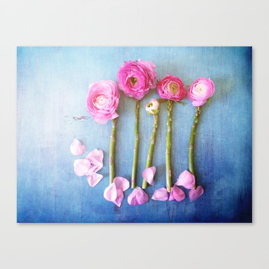 Wild Flowers and Spring Asparagus Canvas Print