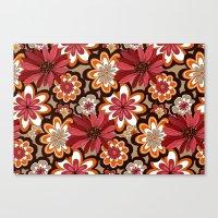 flower pattern Canvas Prints featuring Flower Pattern by Eduardo Doreni