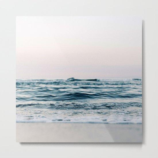 Sea Water Flow Metal Print