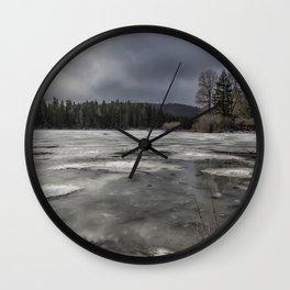 Fish Lake in Transition Wall Clock