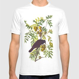 American Crow Hand Drawn Illustrations Vintage Scientific Art John James Audubon Birds T-shirt