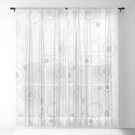 Black and white sacred geometry circle Sheer Curtain
