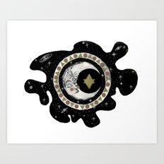Moon Circle Art Print