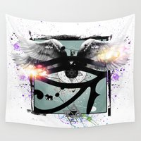 all seeing eye Wall Tapestries featuring All Seeing Eye by Cody Norris