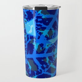 Blue Palm Shadows Travel Mug