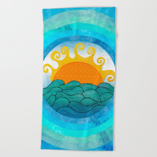 A Happy Day Beach Towel