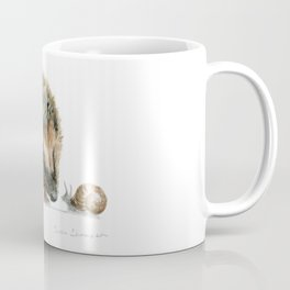 """Close Encounter"" painting of a Hedgehog and Snail by Teresa Thompson Coffee Mug"