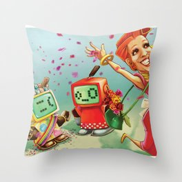 Cheer up Sadface! Throw Pillow