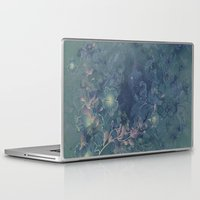 vintage floral Laptop & iPad Skins featuring Vintage floral by nicky2342