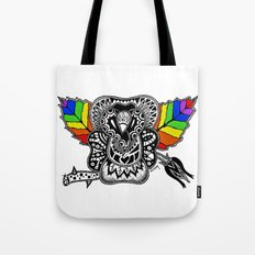Rainbow Rose Tote Bag