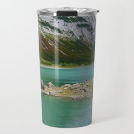 Medicine Lake in Jasper National Park, Canada Travel Mug