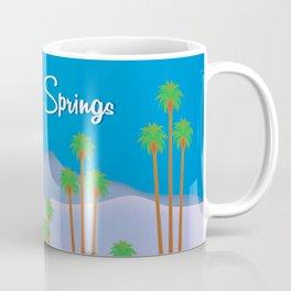 Palm Springs, California - Skyline Illustration by Loose Petals Coffee Mug
