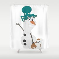 olaf Shower Curtains featuring Olaf & Pals by Cheshire Giraffe