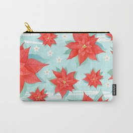 Red poinsettia #1 Carry-All Pouch