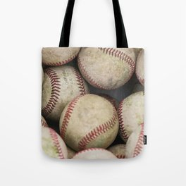 Many Baseballs - Background pattern Sports Illustration Tote Bag