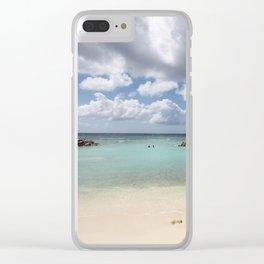 Beach on De Palm Island - Aruba Clear iPhone Case