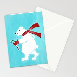 Candy Cane Bear Stationery Cards