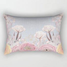 Floral Spring Greatings - Pastel Flowers Rectangular Pillow