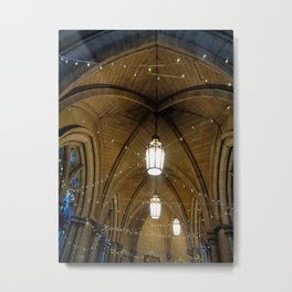 Fairy lights in a magical cloister Metal Print