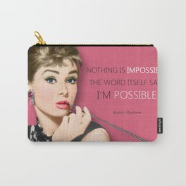 Movie star art - Audrey Hepburn Carry-All Pouch