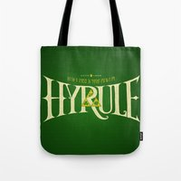 hyrule Tote Bags featuring Hyrule Nation by Jango Snow